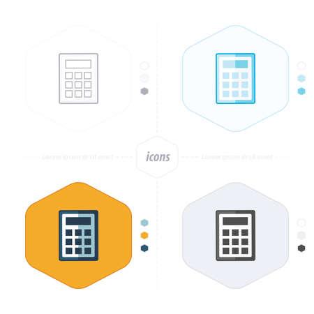 calculator icon: calculator icon, vector illustration. Flat design style Illustration