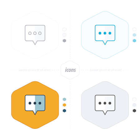 spech bubble: Speech bubbles, vector icon