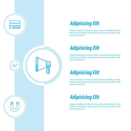 infomation: Concept vectors design blue color