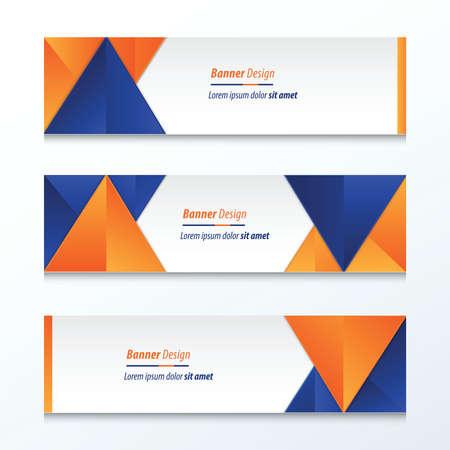 abstrakt Banner-Design, blau, orange