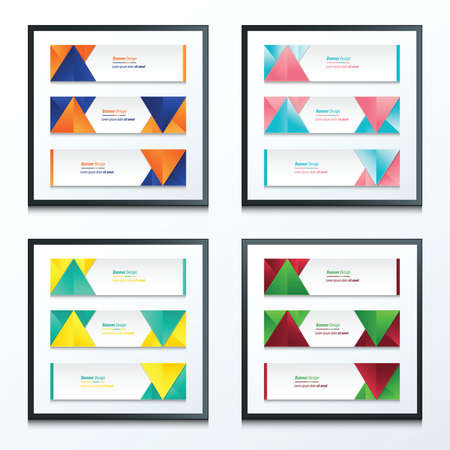 web graphics: abstract banner design set