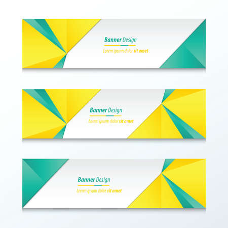 green banner: Triangle Banner Green And Yellow Illustration