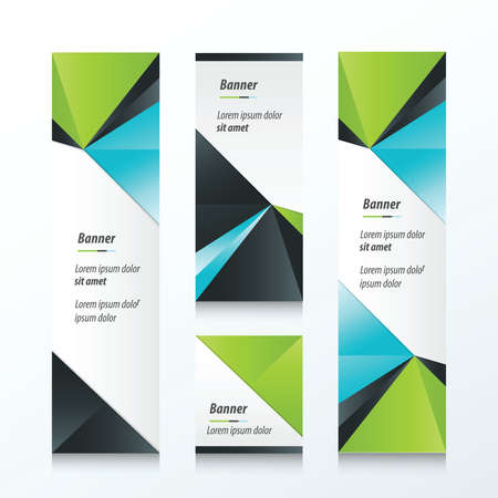 Triangle Vertical Banner