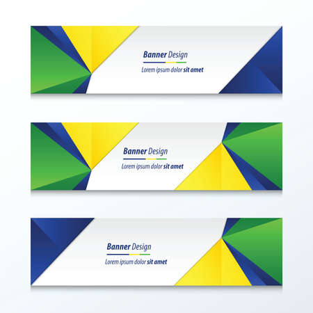 a4 background: Triangle Banner Brazil Styles Illustration