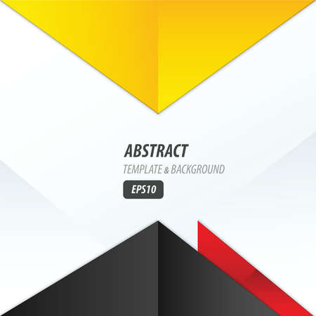 yellow and black: vector triangle design yellow, black, red