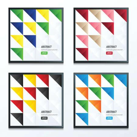 trendy tissue: triangle pattern design set Illustration