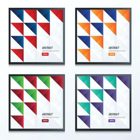 trendy tissue: triangle pattern design 2 color set