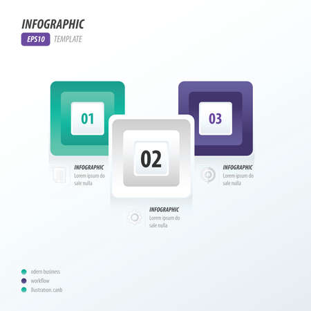 rounded rectangle: infographics four rounded rectangle violet, blue Illustration