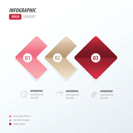 quadrat: Rounded rectangles infographic love style Illustration