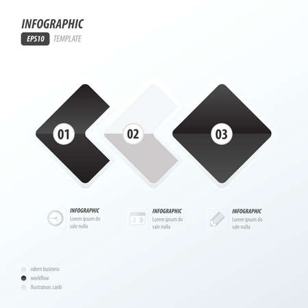 quadrat: Rounded rectangles infographic black and white