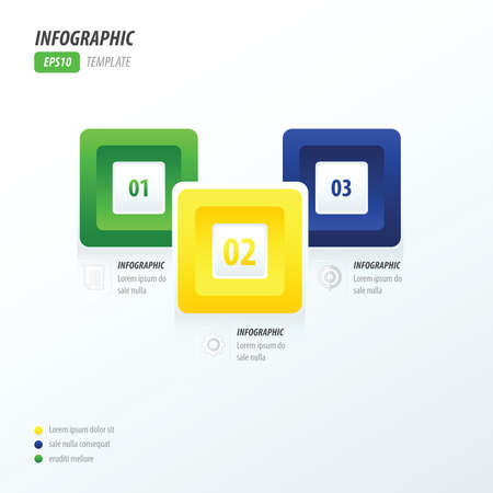 rounded rectangle: infographics four rounded rectangle brazil style Illustration