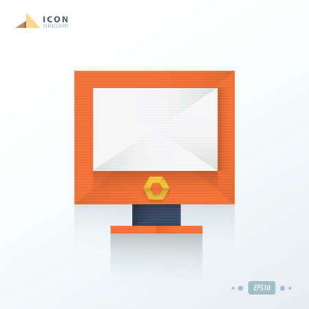 display: Computer display icon origami