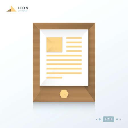 smartphone icon: smartphone icon origami paper