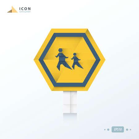 union familiar: a través del diseño de las calles icono de Origami