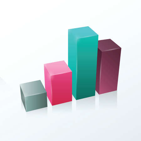 pink and green: Graph Vector infographic  Gray, purple, pink, green.