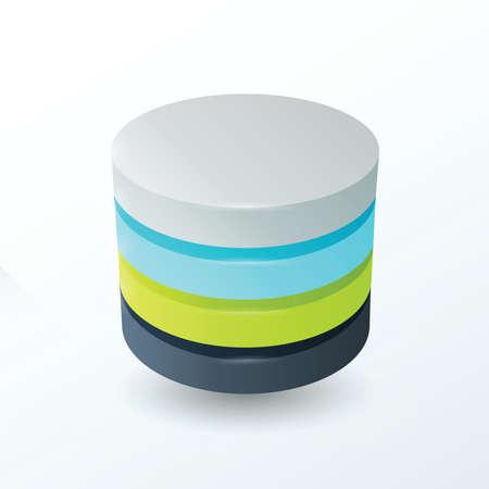 saturation: Circles 4 layer  color green, gray, blue, black