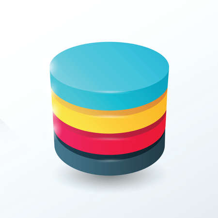 rosa negra: C�rculos de 4 capas de color amarillo, azul, color de rosa, negro