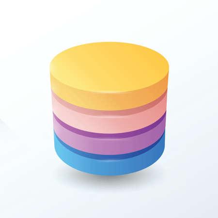 secondary colors: Circles 4 layer  orange, pink, purple, blue