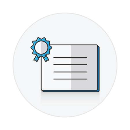 Qualifikation Symbol blau flach Farbe