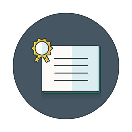Qualifikation Symbol flach Symbol