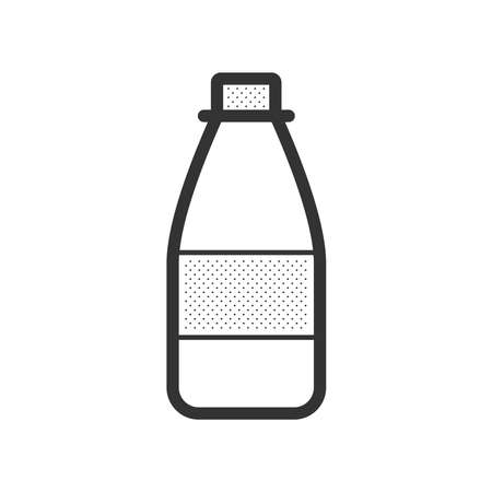 a substance vial: medicine bottle icon Illustration