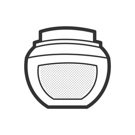 アイコン スパ クリーム、ローション  イラスト・ベクター素材