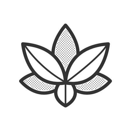 abstract symbolism: lotus icon vector design eps10 Illustration