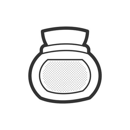 flower bath: icon spa Creams, lotions vector