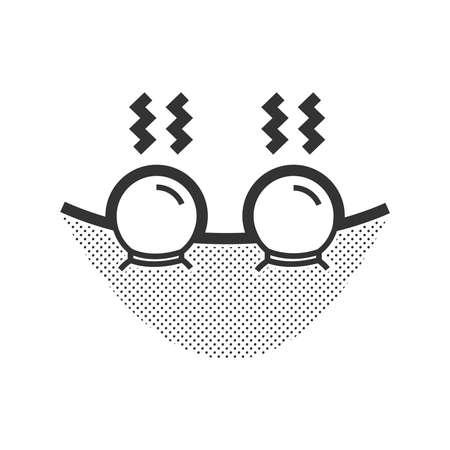La colocación de icono de una taza caliente de terapeuta