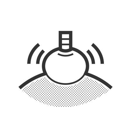 revitalize: herbal compressing ball icon Illustration