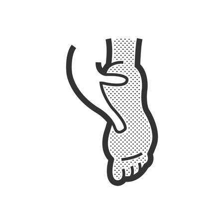 bodycare: foot massage design, foot care icon