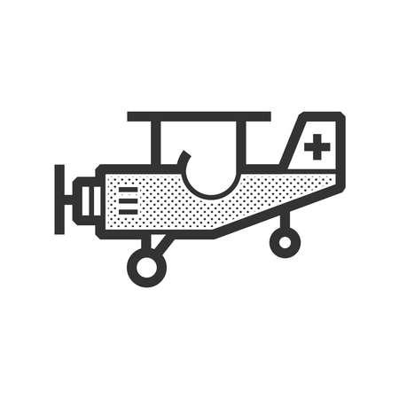 airplane ultralight: ambulance small plane icon