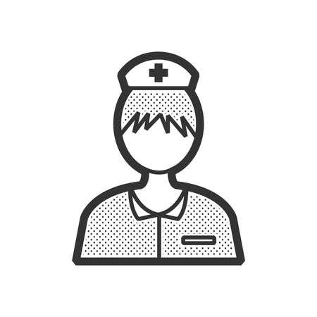 clinical staff: nurse avatar, icon