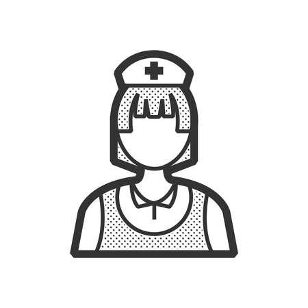clothe: nurse icon, old clothe style
