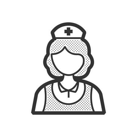 clothe: design nurse icon, old clothe style