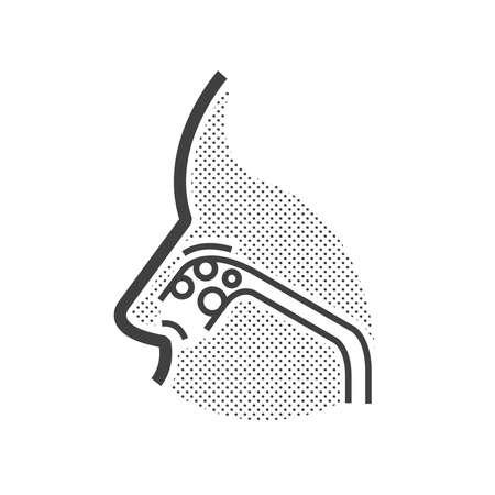paranasal: Nose cancer icon