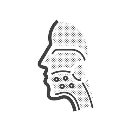 Mundkrebs-Symbol Standard-Bild - 53476123