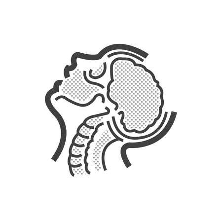 brain anatomy, Medical Doctors Otolaryngology icon Illustration