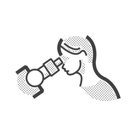 endoscopic: Woman Doctor examination, endoscopic icon