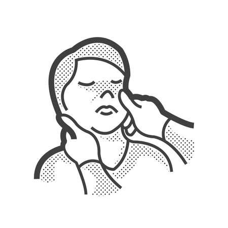 examined: Icon Doctor examination,  eyes examined