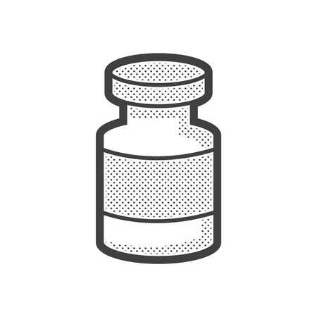 wound: Medical Pharmacist, Drug wound icon Illustration