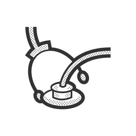 medical device: Medical Device Icon, medical earphones Illustration