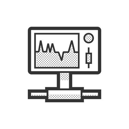 medical device: Medical Device Icon, Health care portable monitor