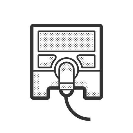 Icono del dispositivo médico, monitor de atención de la salud Ilustración de vector