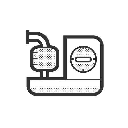 Icono de dispositivos médicos, máquinas Inhaler