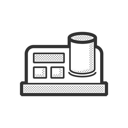 a substance vial: Medical Device Icon, blood test Illustration