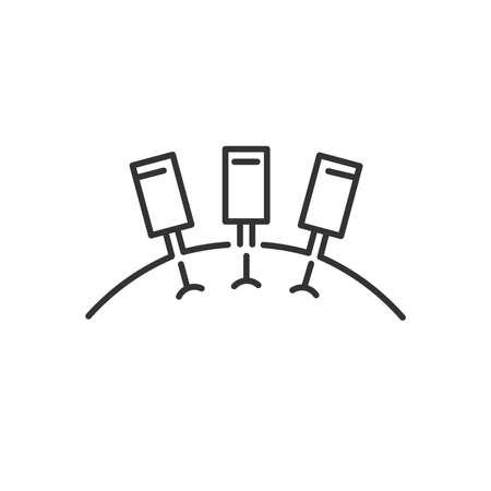 shiatsu: Line Icon Style,  Getting An Acupuncture icon Illustration