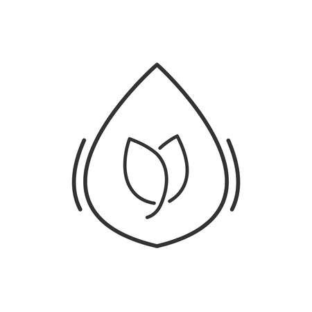 herbal medicine: Line Icon Style,  Herbal medicine liquid drug icon Illustration