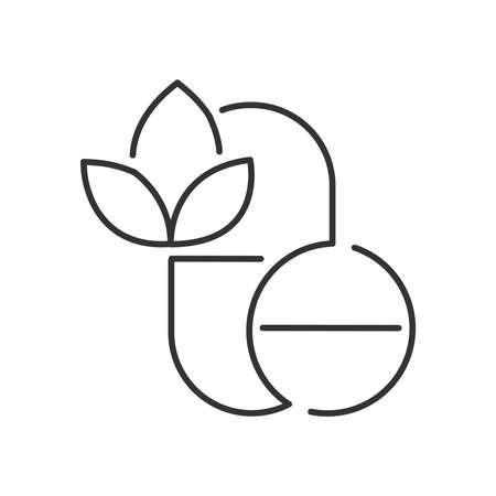 alternative medicine: Line Icon Style,  Pills Alternative medicine icon