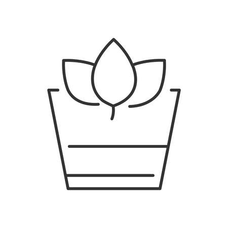 wheat grass: Line Icon Style, Herbal Drink icon Illustration